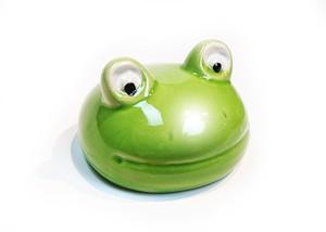 カエル陶器浮き玉 出目蛙 小