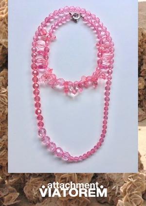 DESERTROSE NECKLACE #transparent pink [VTACSS20002]