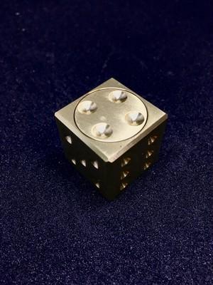 Fidget Premium Dice GoldMetal