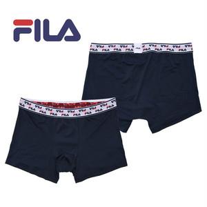【FILA】フィラ ベルト ロゴ ネイビー アンダーウェア / メンズ 無地 ボクサー パンツ
