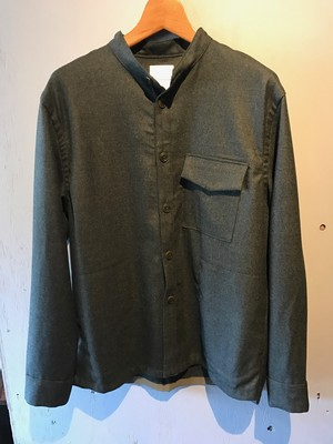 Wool Flannel No Collar Cover All(Re made in tokyo japan)