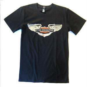 Stag Magazine Winged Tee, black