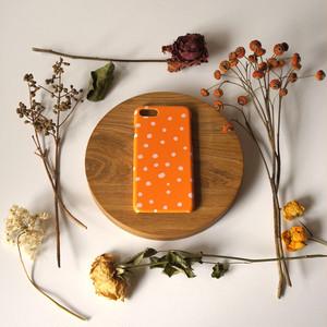 fuwa fuwa dot ( orange & pink ) スマホケース - S / M サイズ 【受注生産】