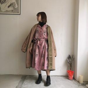 vintage pink floral dress with belt
