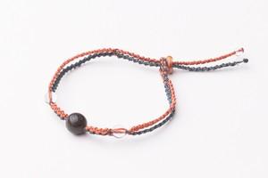 富士山溶岩ブレスレット[Lava Bracelet]オレンジ X 紺