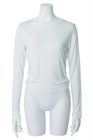 オープンバックTシャツ ホワイト