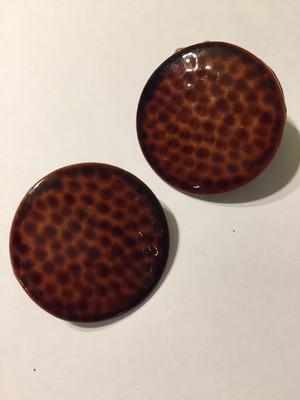 Vintage brown pierced earrings ( ヴィンテージ  茶色 ピアス )