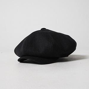 HERRINGBONE CASQUETTE (BLACK) / GAVIAL