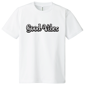 ドライTシャツ ホワイト×ブラック ポリエステル