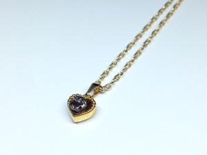 隕石ネックレス(ゴールド・ハート)