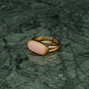 OVAL STONE RING GOLD 006