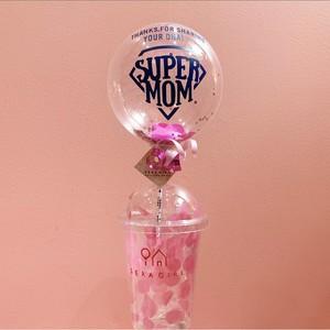【Mother's day】Sundae balloon SUPER MOM