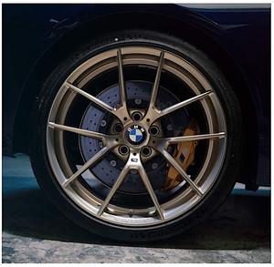 BMW純正 ///M Performance アロイホイール Y-スポーク 763M 19インチ フローズンゴールド Frozen Gold F87 M2シリーズ 10JX19 ET40 リア側ホイール