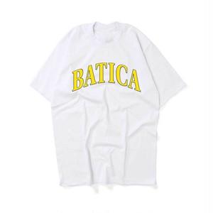 受注予約:BATICA COLLEGE LOGO T-SHIRT WHITE × YELLOW