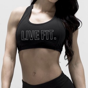 LIVE FIT Outline Sports Bra- Black