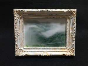 手作りミニ額「朝霧の橋」