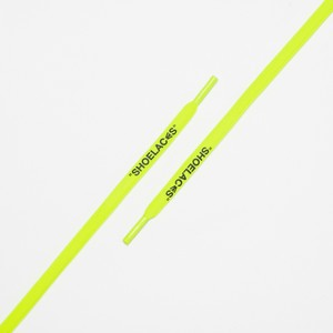 """OVAL LACES SOLID """"SHOELACES/NEON YELLOW"""""""