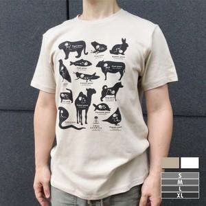 ヨガがいこつTシャツ[動物ポーズ]【選べる2色*4サイズ】(黒プリント)