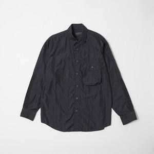 ポケッタブル オーバーシャツ ブラック