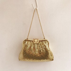- dead stock - gold spangle clutch & hand bag