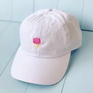 アイスクリーム/クリームソーダ刺繍キャップ(2type)〈残り1点〉