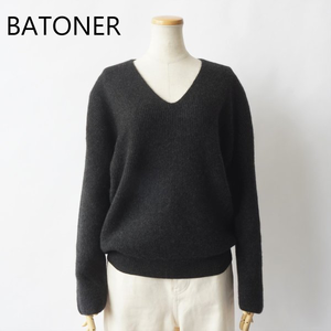 BATONER /バトナー・Cashmer Fox V-Neck