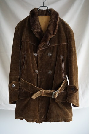 <SOLD OUT>Corduroy Car Coat 1930's - French Vintage