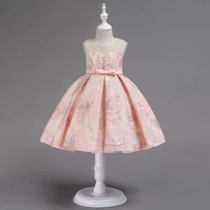 【送料無料】新作  好評 再入荷大きい花 刺繍  キッズドレス 子供ドレス 結婚式