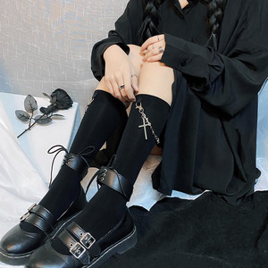 ゴスロリ ソックス 靴下 ペンダントチェーン 十字架 アクセサリー 病みかわいい  ストリート系 原宿系 オルチャン 韓国 10代 20代