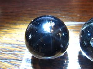 チベット産スター黒水晶・スフィア 25mm ¥7400→¥5550→¥3700