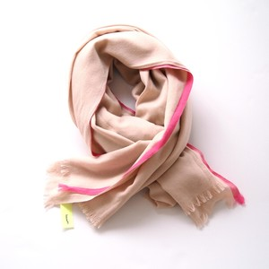 loomer / Super 120's Selvage Color Stole[beige × pink]