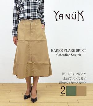 YANUK ヤヌーク  ベイカースカート BAKER FLARE SKIRT 57183226 AGR BEG 日本製 MADE IN JAPAN