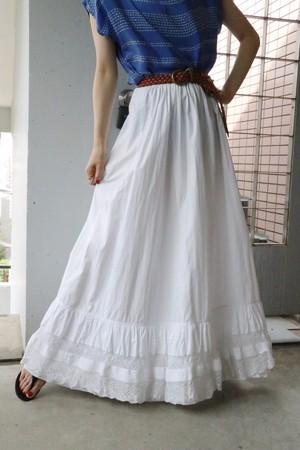 50's cotten white tiered skirt