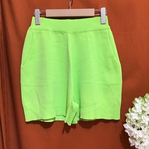 Summer Knit Over Short Pants    Color : Neon Green