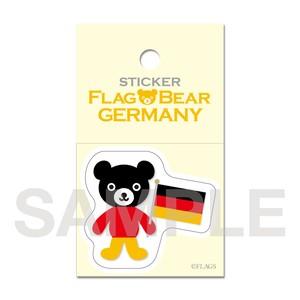 FLAG BEAR STICKER <GERMANY> ドイツ (小(S))