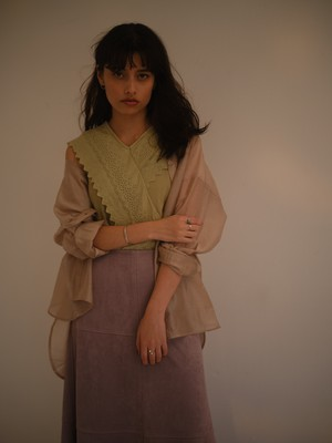 oversize sheer shirt(beige)