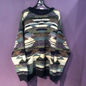 Green pattern design knit [B1254]