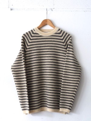 FUJITO / BORDER KNIT SWEATER [NATURAL/GRAY]