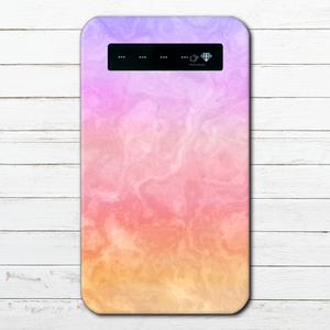 #000-038 モバイルバッテリー 大理石柄 かわいい セール おしゃれ マーブル柄 iphone スマホ 充電器 タイトル:marble pink