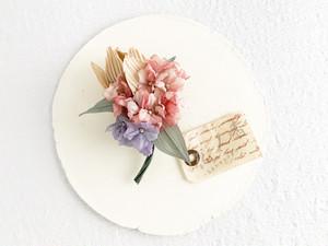 "Corsage : コサージュ "" bouquet. "" (チューリップ1輪×紫陽花)"
