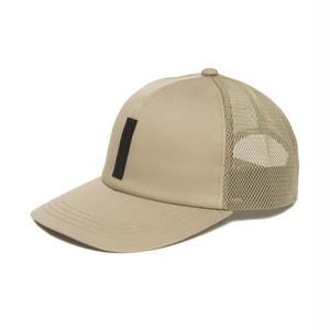FULL BK SILICON TAG MESH CAP (BEIGE)