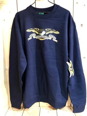 ANTIHERO Eagle SWEAT SHIRT - NAVY M/L