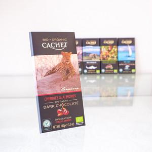 【カシェ】ベルギー オーガニック チョコレート チェリー & アーモンド