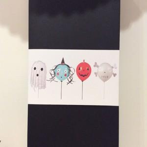 【meri meri】ハロウィンキャラクターバルーン4個セット