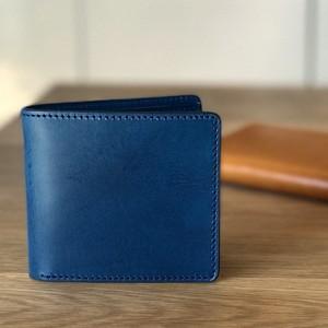 イタリアンレザーブッテーロのハーフウォレット 二つ折り財布