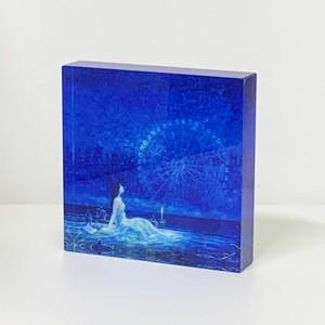 青の欠片Ⅰ: 「青い夜Ⅺ」アクリルブロック