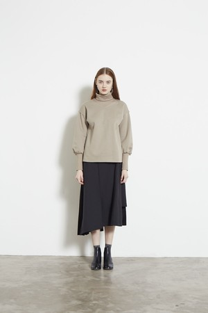 DOUBLE KNIT HIGH NECK C&S