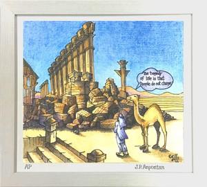 Jean-Pierre Anpontan ジクレー版画 限定30部「ゼノビアを偲んで」 オリジナルアート作品