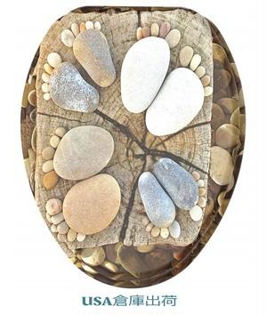 SANILO Stone Feet デザイン木製便座 大型&標準サイズ対応可能モデル