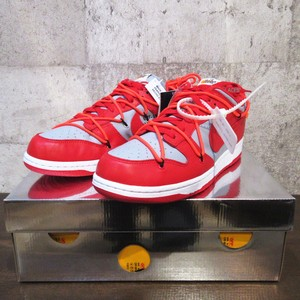 NIKE × OFF-WHITE DUNK LOW UNIVERSITY RED